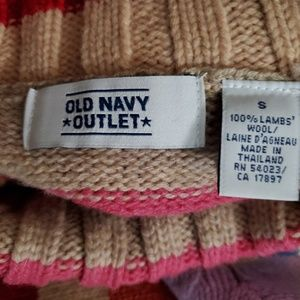 Old Navy Sweaters - Old Navy turtleneck striped sweater